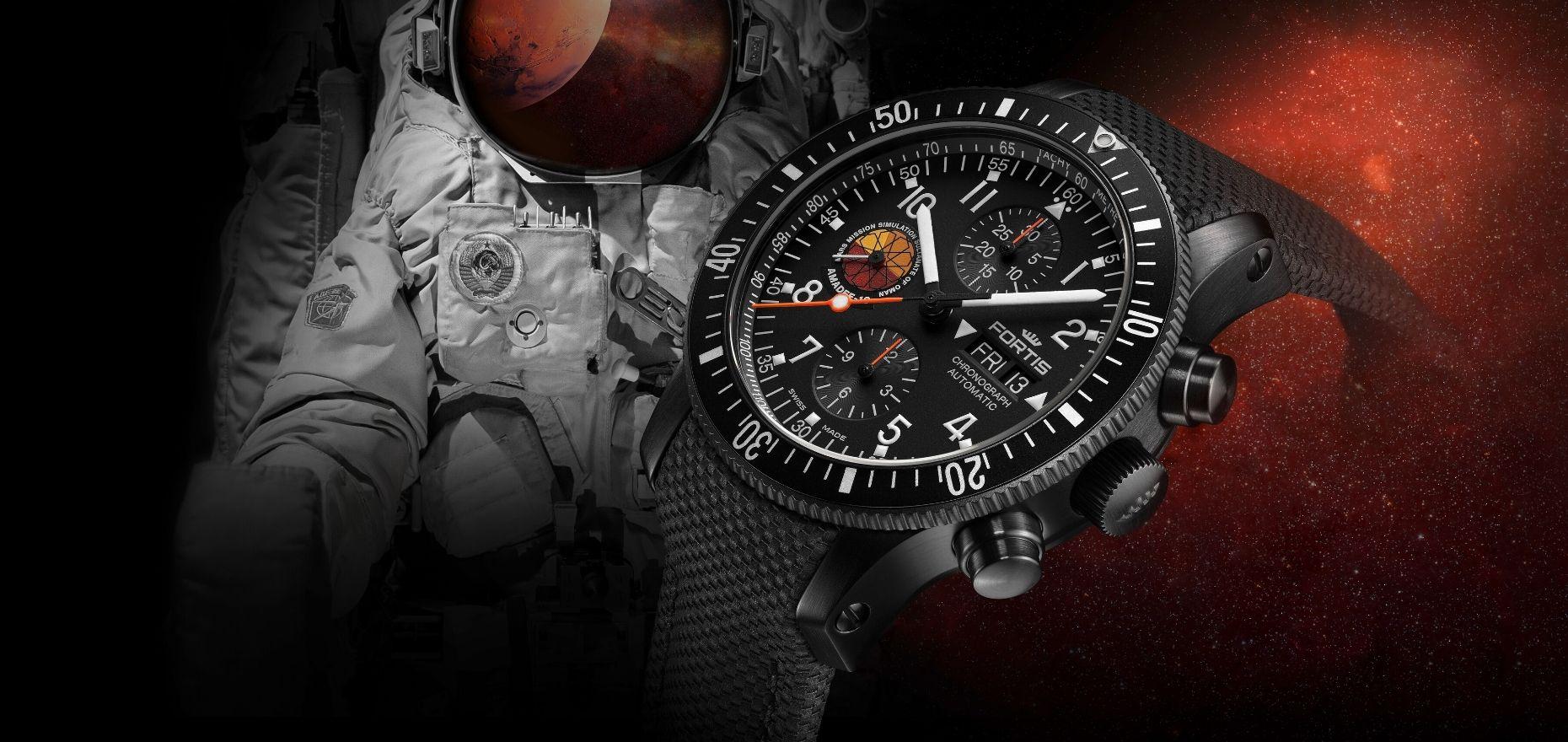 Fortis Official Cosmonauts Amadee-18 Chronograph: Astronauten-Gear für angehende Mars-Reisende