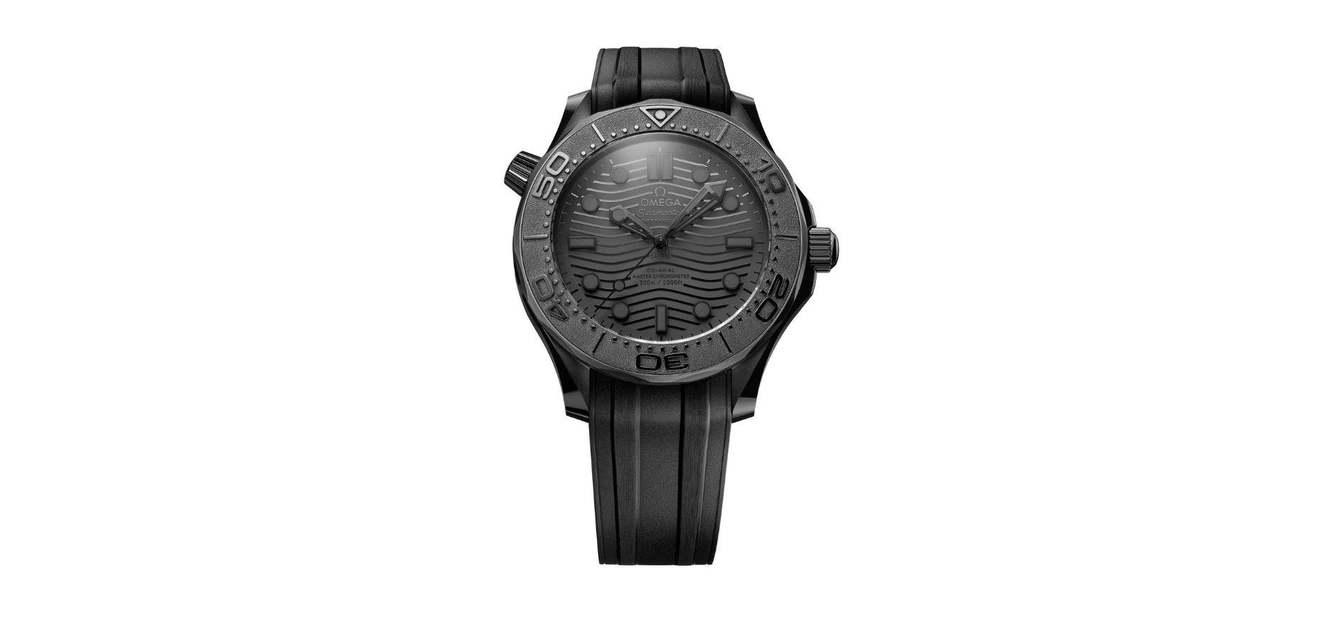 All Black Everything: Omega Seamaster Diver 300m Black Black