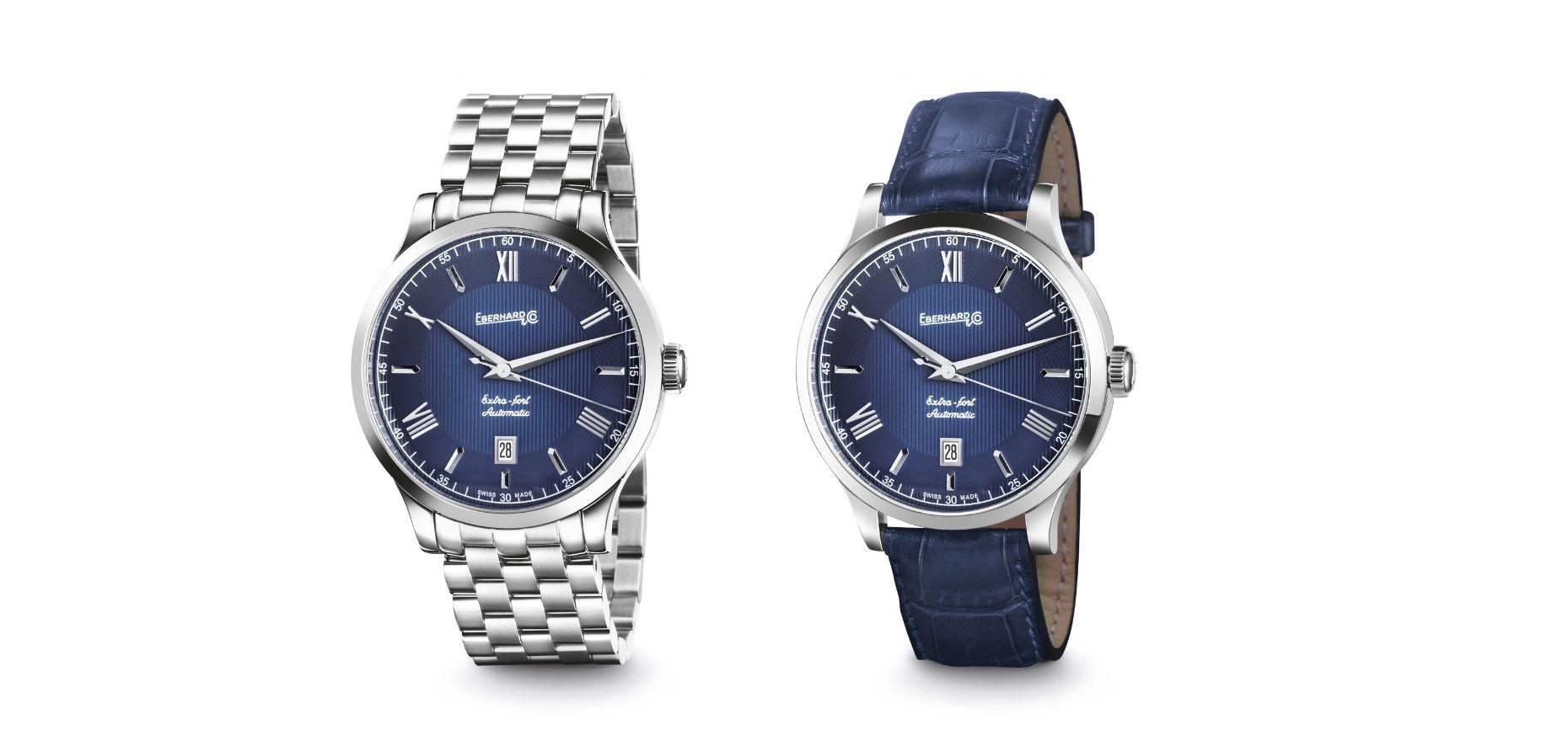 Eberhard & Co. ergänzt seine älteste Kollektion um eine weitere Zifferblattfarbe: Extra Fort Automatic Marineblau