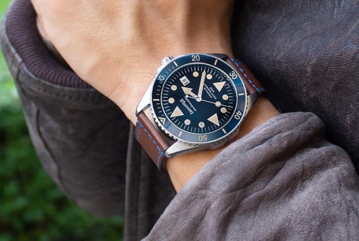 """Neue edle Designs: Eberhard & Co. präsentiert die Uhr Scafograf 300 """"MCMLIX"""" in neuem Gewand"""