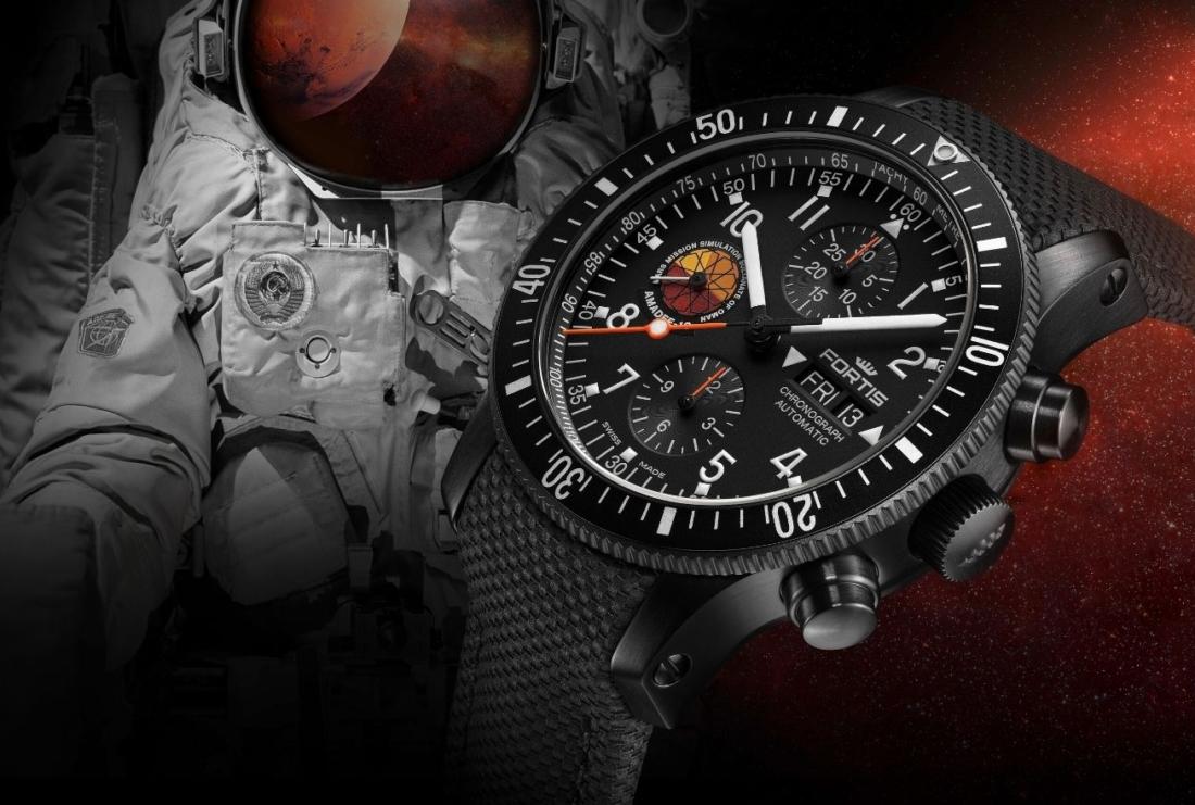 Chronographe officiel des cosmonautes Fortis Amadee-18 : L'équipement pour les futurs voyageurs sur Mars