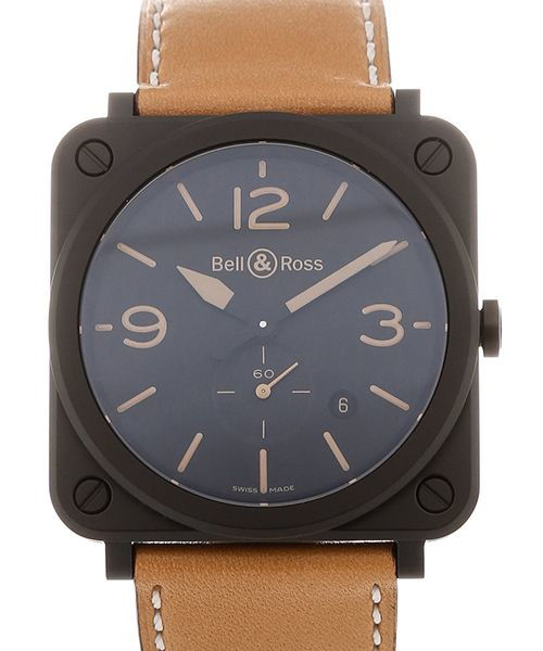Aviation 39mm Date Beige Leather Strap Heritage