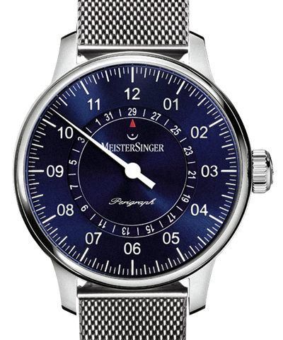 Perigraph 43 Blue Dial Milanaise Fine Steel Strap Folding Clasp