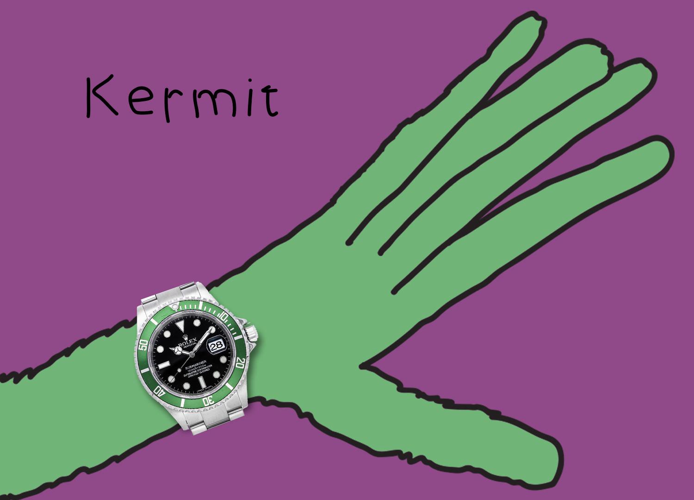 """Rolex Submariner 16610LV """"Kermit"""""""