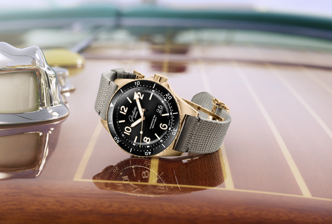 New high-end dive watches from Glashütte Original: SeaQ Panorama Date Gold