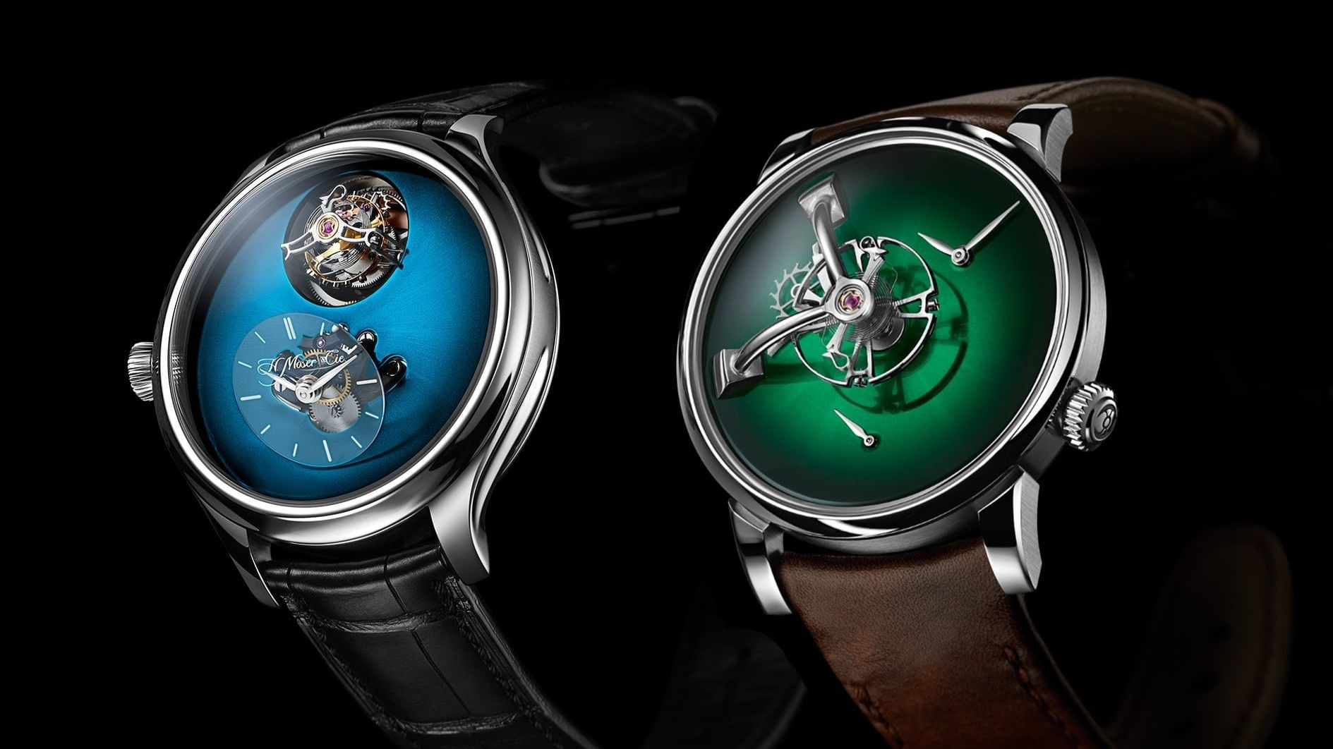 H. Moser & Cie. and MB&F join forces: New Endeavour Cylindrical Tourbillon and LM101 watches
