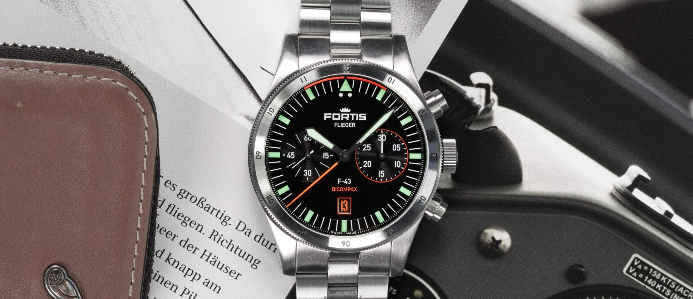 Fortis Flieger F-43 Bicompax Chronograph – So familiar and yet fundamentally new