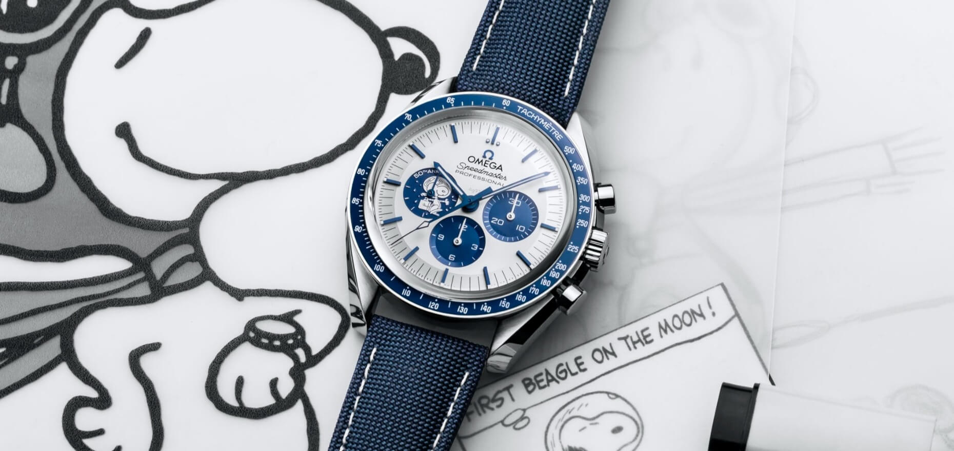 """The Story Behind Omega's Speedmaster """"Silver Snoopy Award"""" 50th Anniversary"""