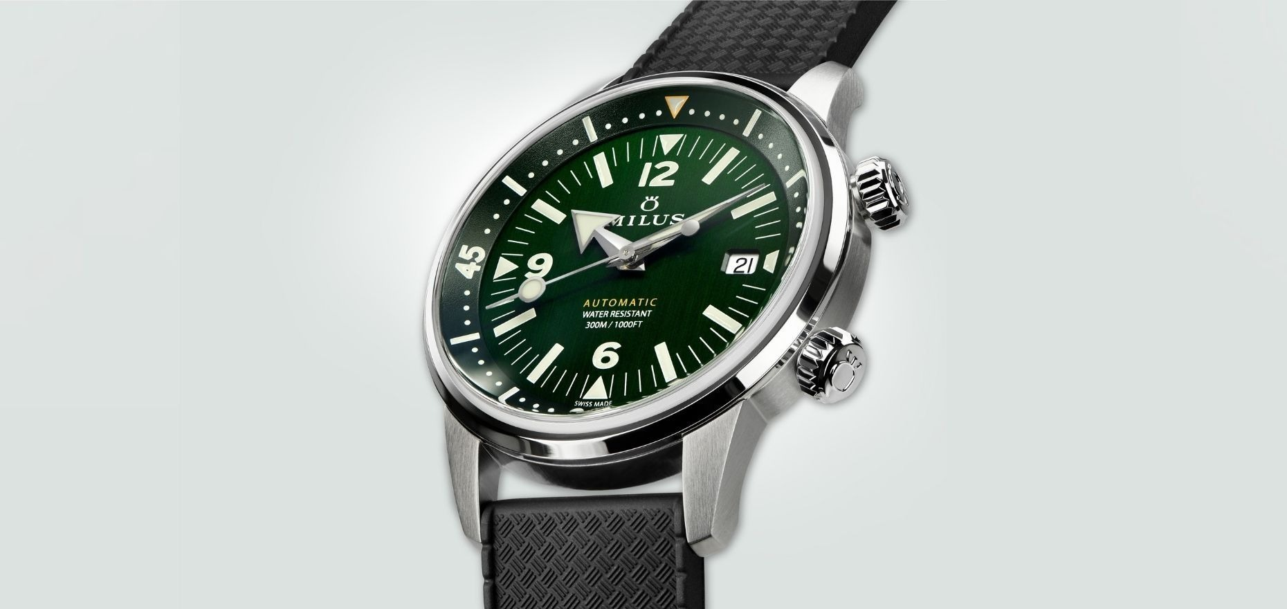 Milus Archimèdes Wild Green: A new green diver from Biel