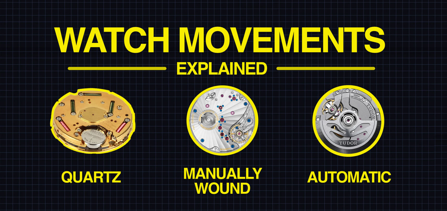 Quartz, automatic or manual-wound? Different watch movements explained