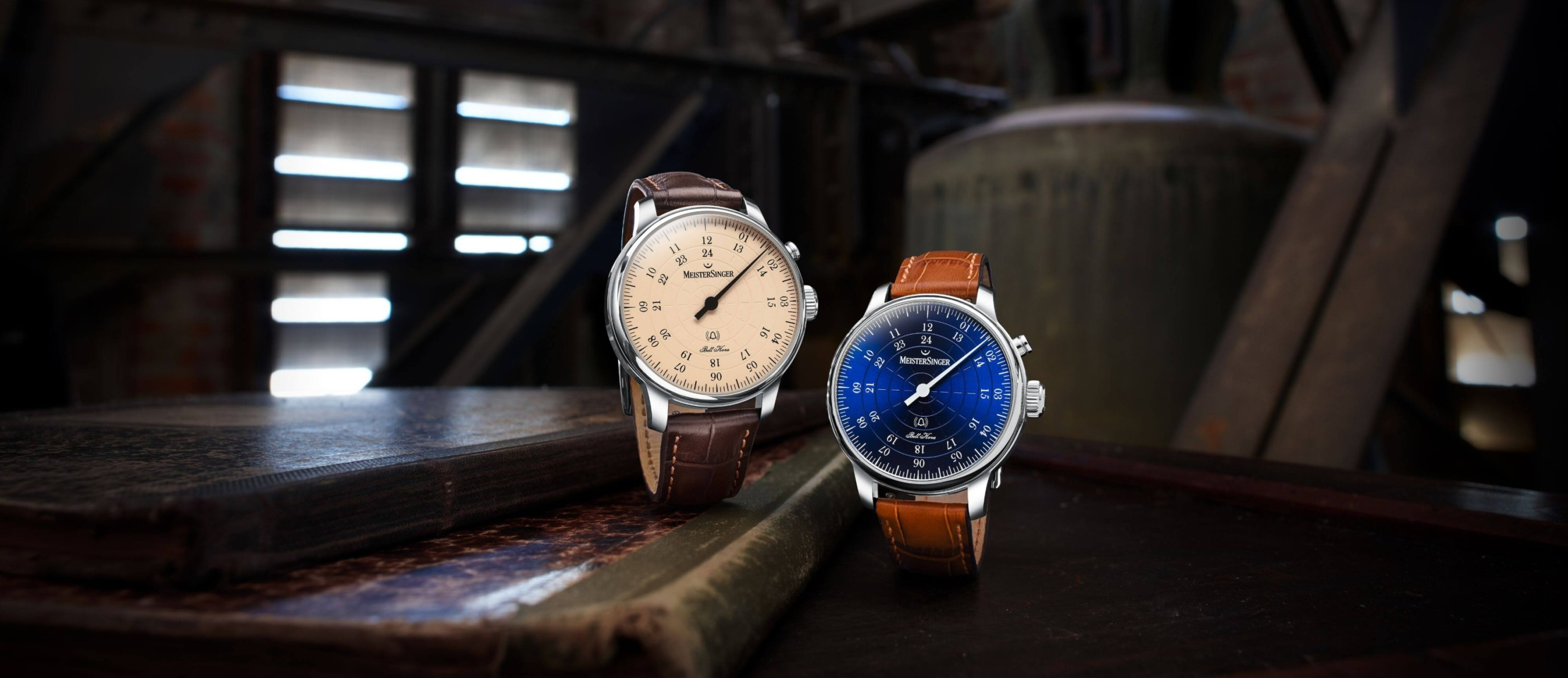 MeisterSinger Bell Hora Award-winning single-hand watch with rare acoustic hour strike
