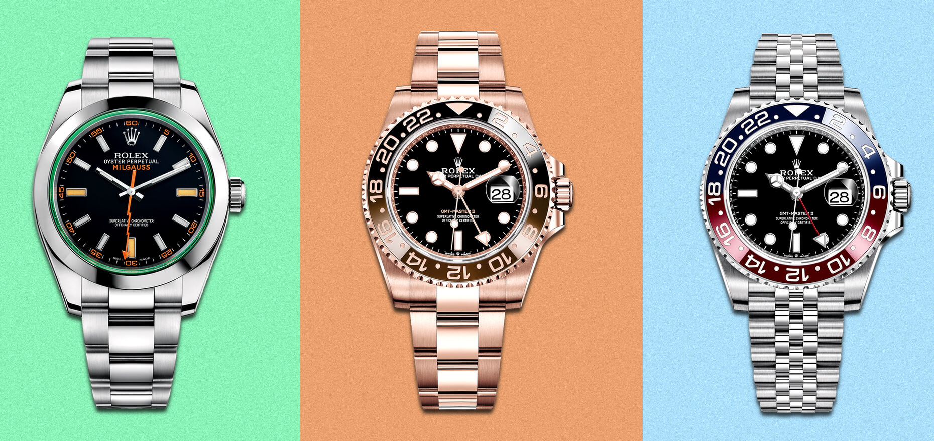 The colorful world of Rolex letter codes: The meaning behind BLRO, BLNR and CHNR