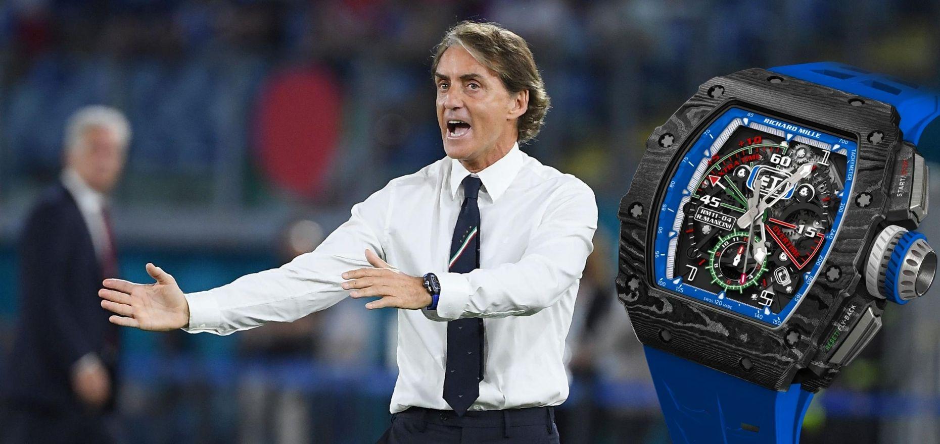 The Half-Million-Euro Watch of Italian Coach Roberto Mancini: RM 11-04 Automatic Flyback Chronograph Roberto Mancini